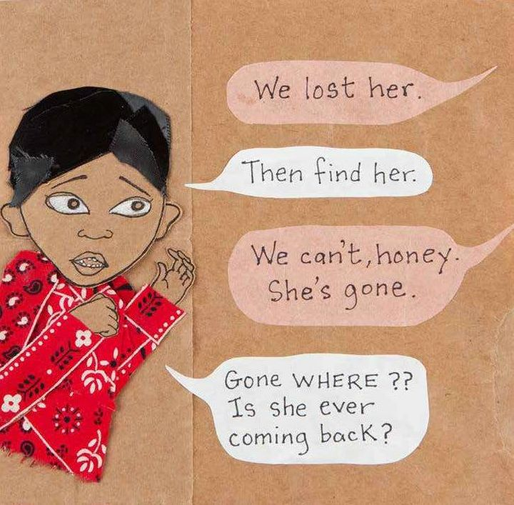 An image from <i>Death is Stupid</i>, the latest in the Feminist Press's Ordinary Terrible Things series for children.