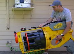 NASA Engineer Builds World's Largest Nerf Gun And It's Awesome