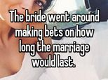 14 Times Wedding Guests Knew The Marriage Would End In Divorce