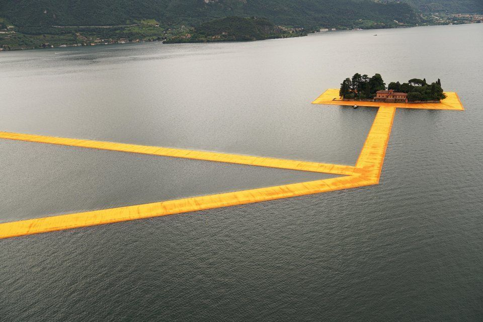 The Floating Piers, Lake Iseo, Italy, 2014-2016.