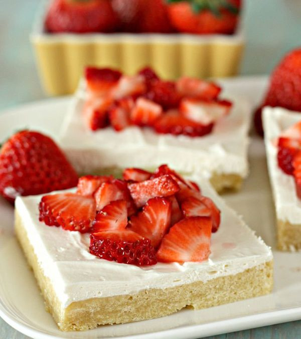"""<strong>Get the <a href=""""http://www.sixsistersstuff.com/2014/03/strawberry-shortcake-bars.html"""" target=""""_blank"""">Strawberry Sh"""