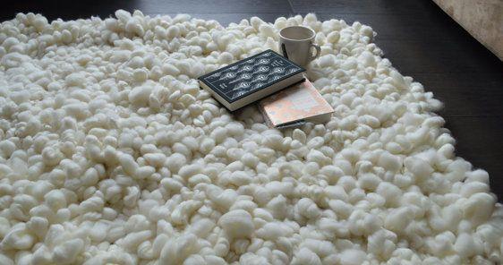 Merino wool rug