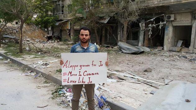 Jo Cox Tributes Include Extraordinary Photo In War-Torn Aleppo,