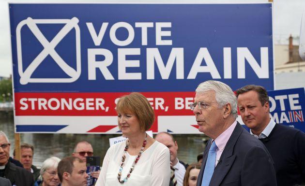 David Cameron, John Major and Harriet Harman join