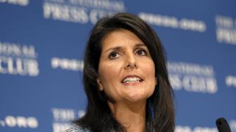 South Carolina Governor Nikki Haley speaks at the National Press Club  in Washington September 2, 2015.  REUTERS/Kevin Lamarque