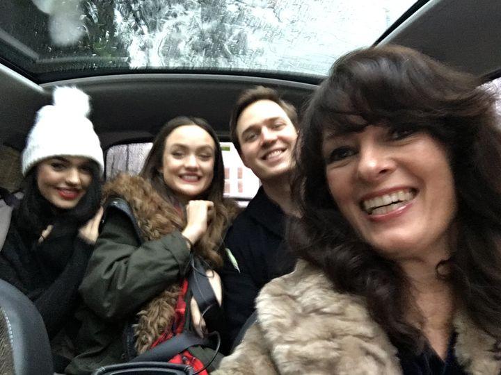 Liz Pichon and her three children