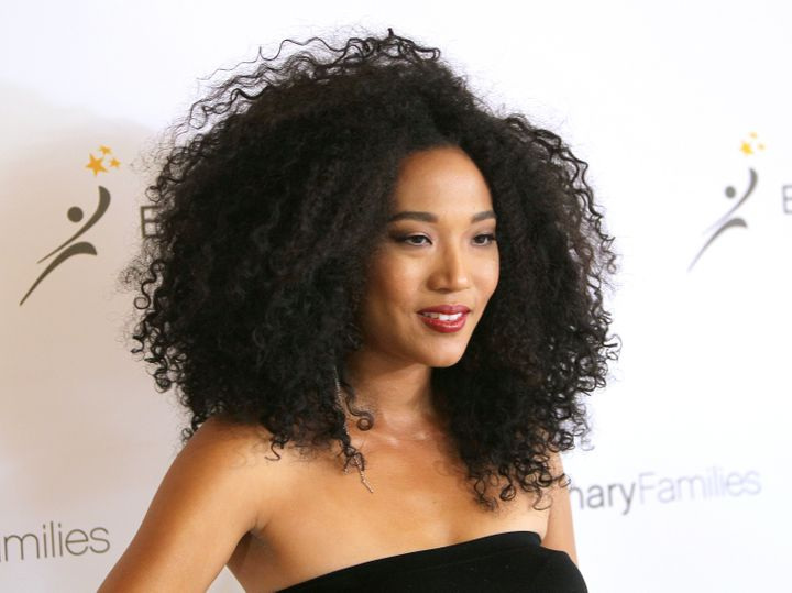 Singer Judith Hill arrives in Beverly Hills, California, on Apr. 20, 2016.
