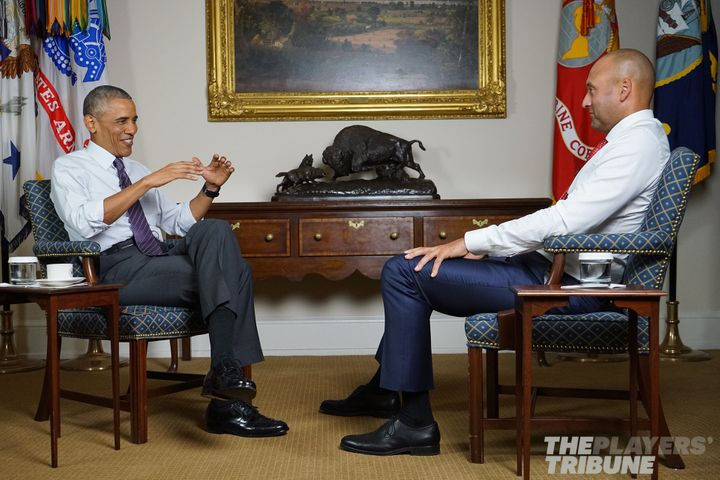 Jeter and Obama had a conversation on mentors, role models, family and more.