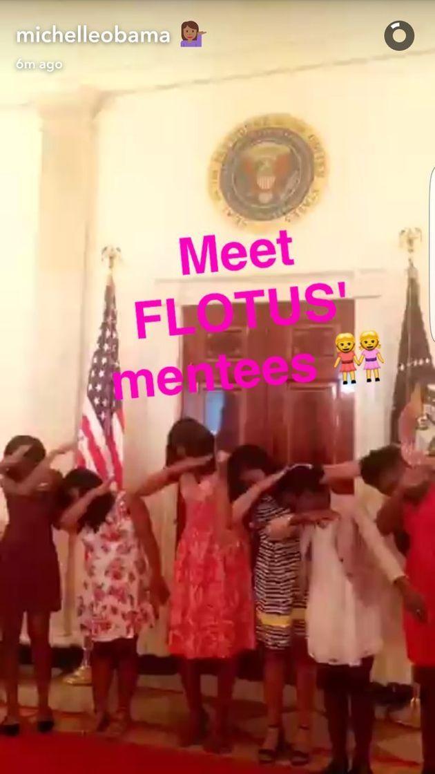 ミシェル・オバマがついにSnapchatを始めたよ。動画も写真も可愛い!