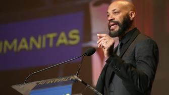 LOS ANGELES, CA - FEBRUARY 11:  Screenwriter John Ridley accepts the Kieser Award onstage during the 41st Humanitas Prize Awards Ceremony at Directors Guild Of America on February 11, 2016 in Los Angeles, California.  (Photo by Joe Scarnici/Getty Images for Humanitas Prize)