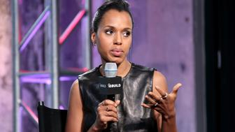 NEW YORK, NY - SEPTEMBER 25:  Kerry Washington visits AOL Build Presents to discuss the new season of 'Scandal' and her work with AllstateÕs Foundation 'Purple Purse' at AOL Studios In New York on September 25, 2015 in New York City.  (Photo by Steve Mack/FilmMagic)