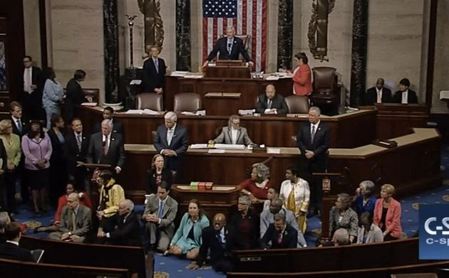 Democrats Stage Sit-In On House Floor To Force Gun Control