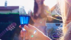 Move Over Rosé, Blue Wine Is Now On The