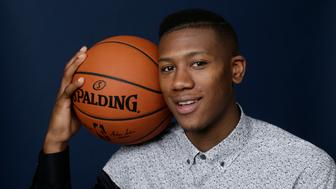 NEW YORK - JUNE 22: NBA Draft Prospect, Kris Dunn poses for portraits during media availability and circuit as part of the 2016 NBA Draft on June 22, 2016 at the Grand Hyatt New York in New York City. NOTE TO USER: User expressly acknowledges and agrees that, by downloading and/or using this photograph, user is consenting to the terms and conditions of the Getty Images License Agreement.  Mandatory Copyright Notice: Copyright 2016 NBAE (Photo by Steven Freeman/NBAE via Getty Images)