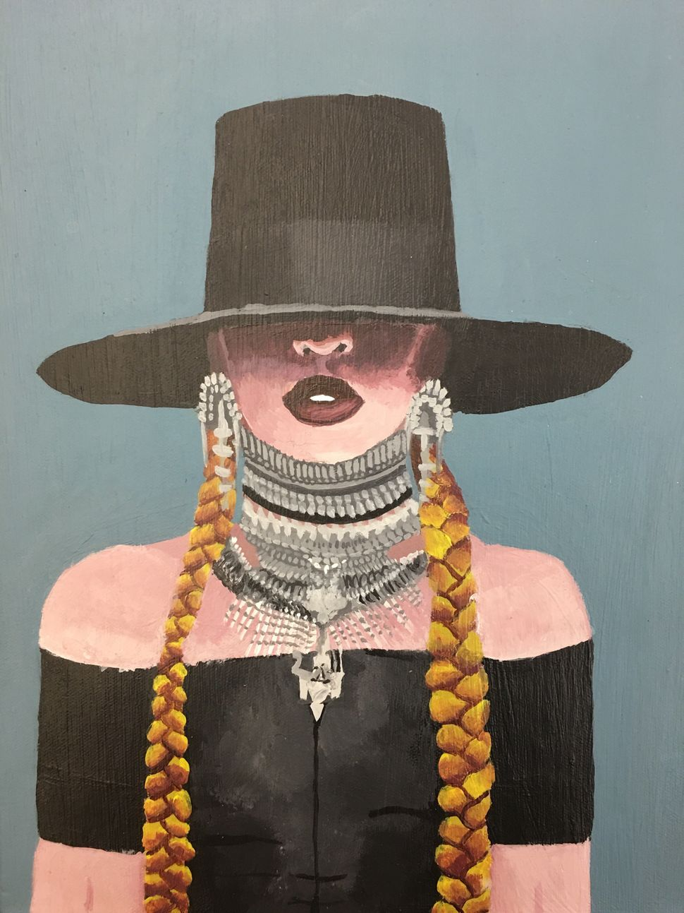 Myasia Dowdell, Beyonce, 2016, Acrylic on Canvas