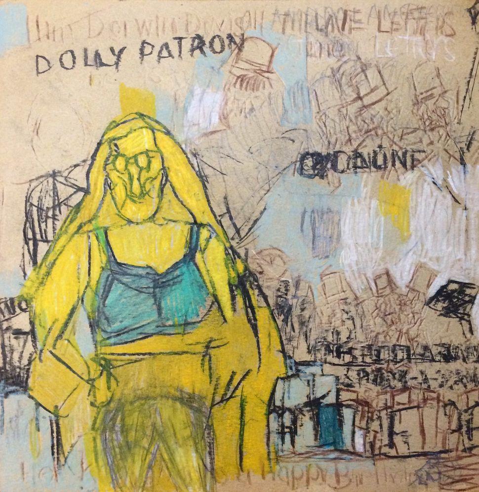 Garrol Gayden, Dolly Parton, 2016, Mixed Media on Board