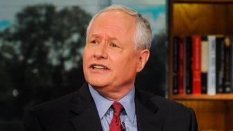 MEET THE PRESS -- Pictured: (l-r)   Bill Kristol, Founder & Editor, The Weekly Standard, appears on 'Meet the Press' in Washington, D.C., Sunday, NOV. 3, 2013. (Photo by: William B. Plowman/NBC/NBC NewsWire via Getty Images)