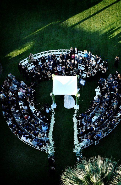A ceremony in the round creates an intimate atmosphere for you and your guests.