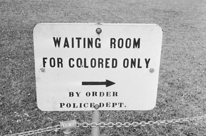 A sign in Jackson, Mississippi, from the 1960s, an era one congressional candidate would like to return to.