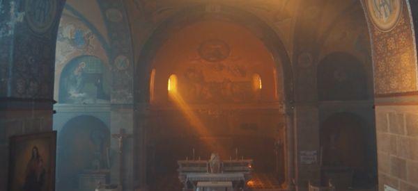 Fly Through A Byzantine Church With Breathtaking Drone Footage