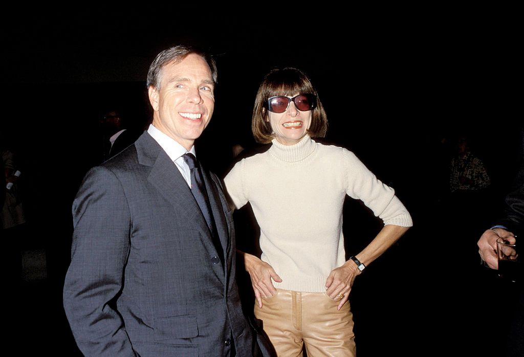 """Tommy Hilfiger and Anna Wintour during Tommy Hilfiger """"Rock Style"""" Exhibit at The Metropolitan Museum of Art at Metropolitan Museum of Art in New York City, New York, United States. (Photo by KMazur/WireImage)"""