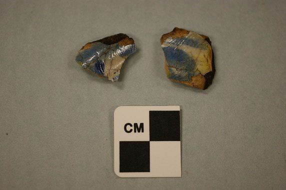 These pottery fragments were recently unearthed during a dig in Roanoke, North Carolina.