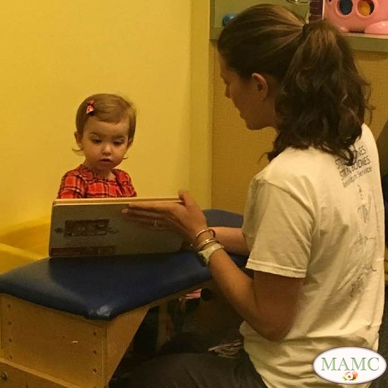 One of her very first speech therapy sessions