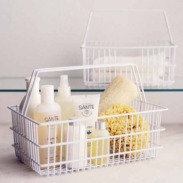 """Photo Credit:&nbsp;<a href=""""http://www.dotandbo.com/collections/category-bed-and-bath-storage-and-hampers-caddies/milk-bottle"""