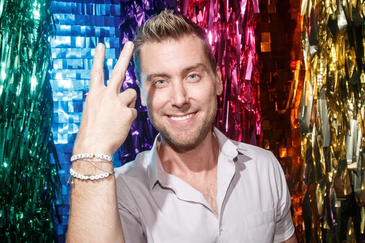 """""""I just wanted to show people that you shouldn't be scared,"""" Lance Bass told The Huffington Post."""