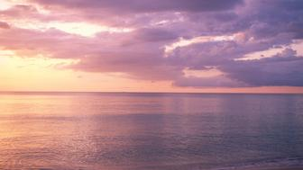 Dawn on beach