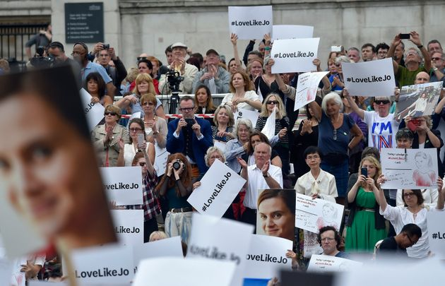 People attend a special service for murdered Labour Party MP Jo Cox, at Trafalgar Square in London, Britain...