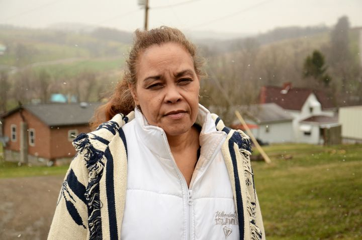 Jeannie Moten lives down the street from the Eakins. She has no running water at her home, and receives drinking-water donati