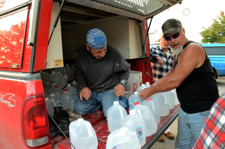After the Connoquenessing Township water drive closed down for a month, residents tried to fit as much water as possible into
