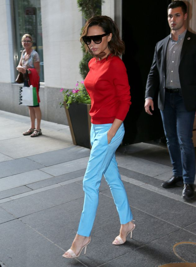 Victoria Beckham In Not-Wearing-Black Shocker (And Doesn't She Look