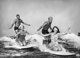 A Look Back At Surfing's Rebellious, And Goofy, Past