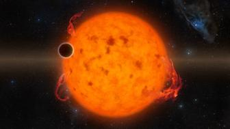 Illustration of exoplanet K2-33b.