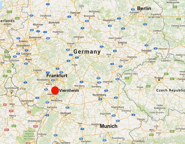 Map Of Viernheim Germany.German Cinema Shooting Gunman Shot Dead In Viernheim Near Frankfurt
