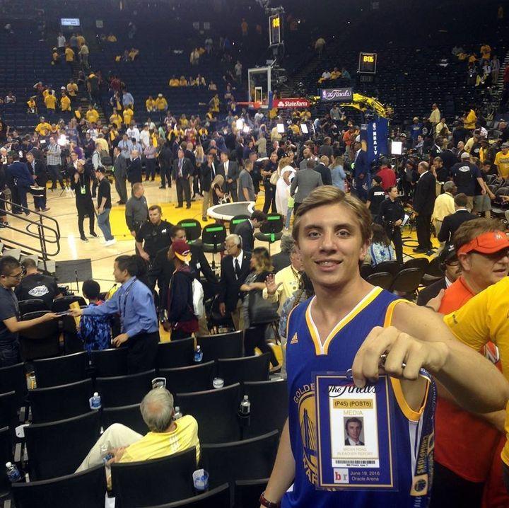 Micah Poag gets intoNBA Finals Game 7 with fake press pass.