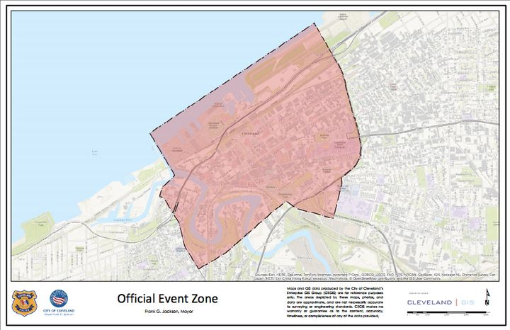 Cleveland had planned a broad restrictedzone for the Republican National Convention in July.