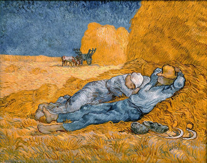 "Vincent Van Gogh, ""Noon: Rest from Work"" (after Jean-François Millet), 1890"