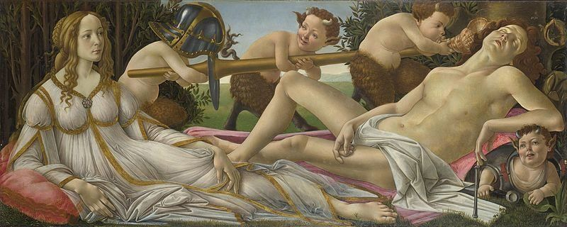 "Sandro Botticelli, ""Mars and Venus,"" ca. 1483"