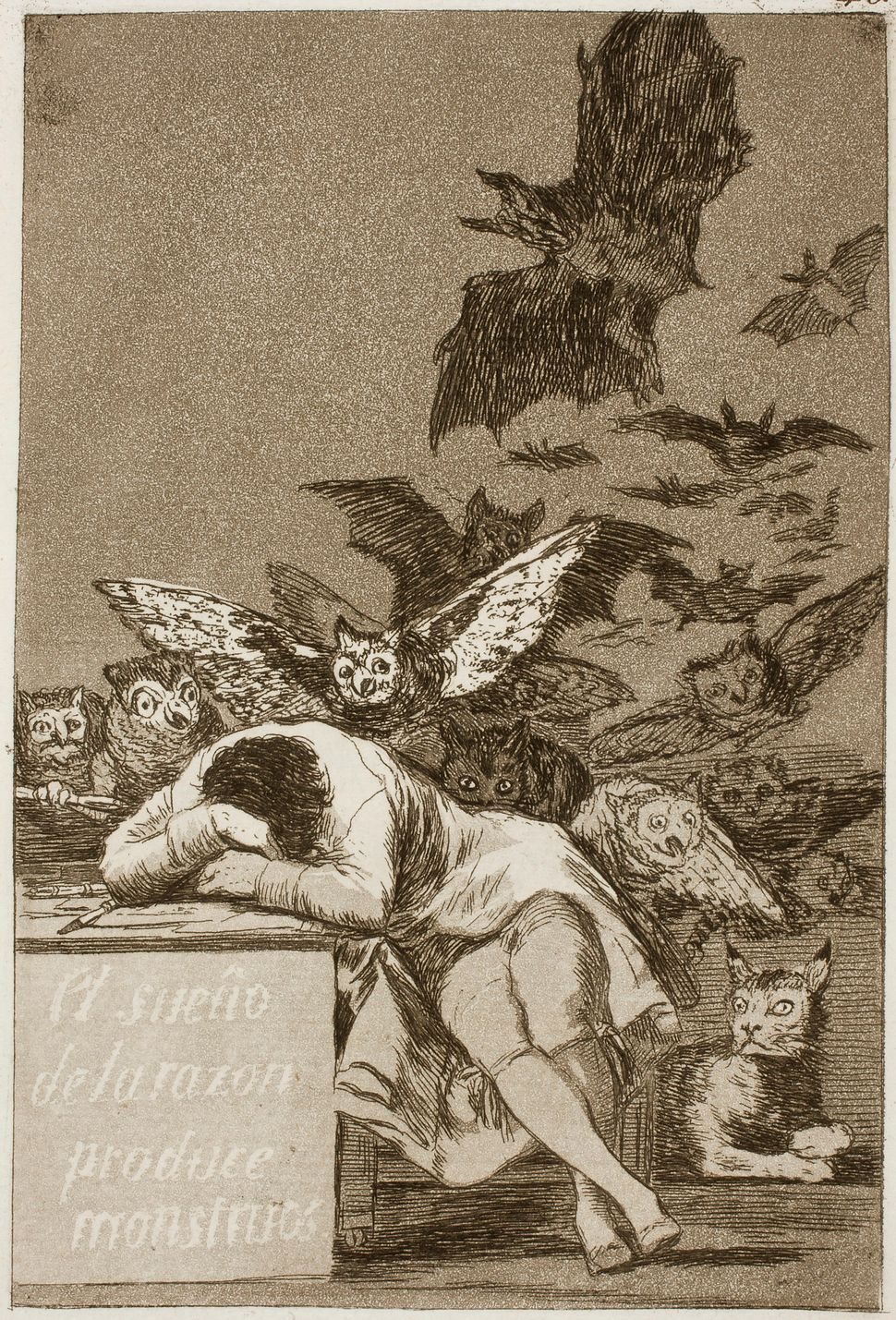 "Francisco de Goya, ""The Sleep of Reason Produces Monsters, #43,"" 1799"