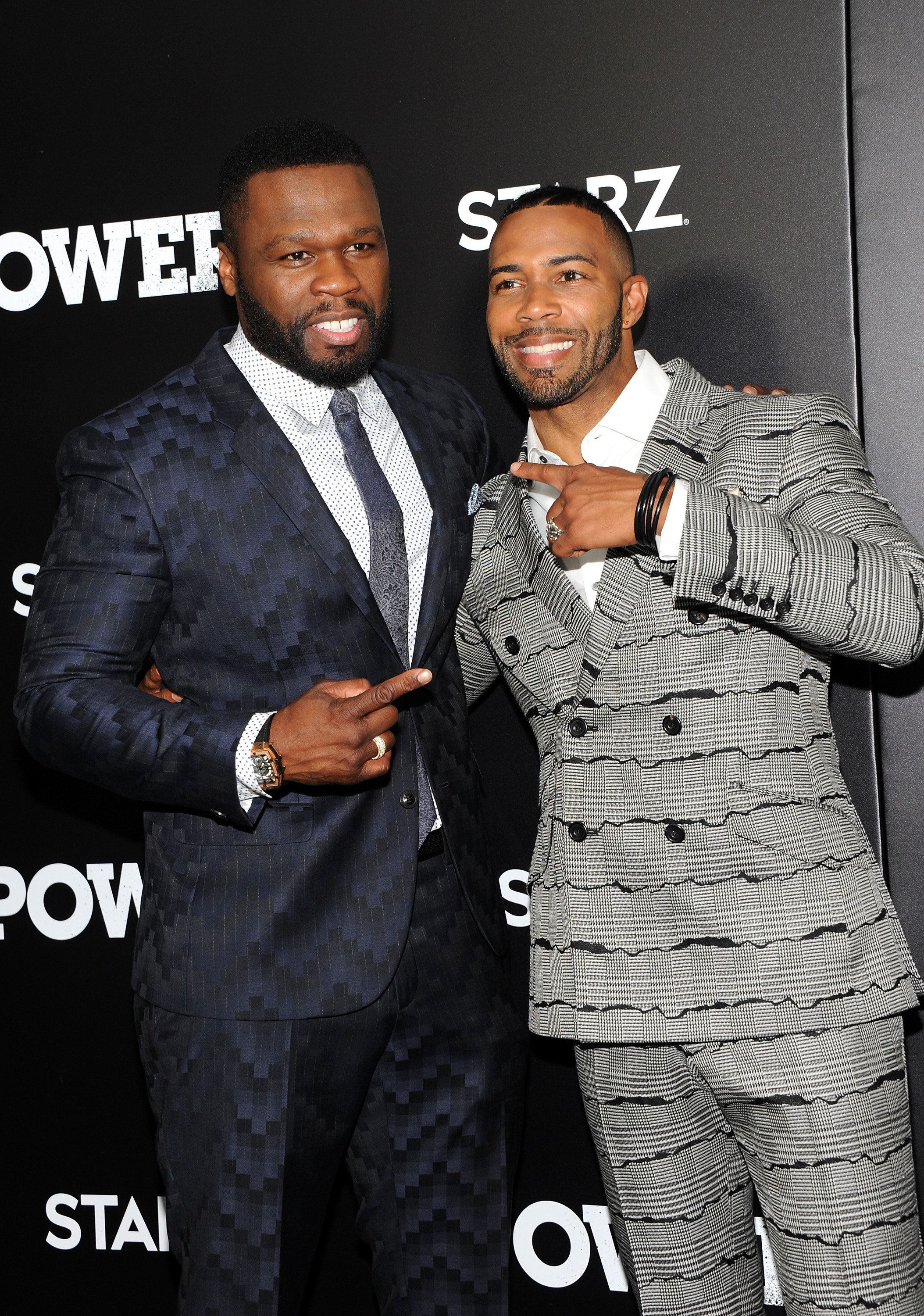 NEW YORK, NY - JUNE 22: Curtis '50 Cent' Jackson (L) and Omari Hardwick attend 'Power' Season 3 New York Premiere at SVA Theatre on June 22, 2016 in New York City.  (Photo by Desiree Navarro/WireImage)