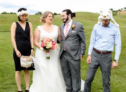 Adult Ring Bearer And Flower Girl Took This Bridal Party Up A Notch