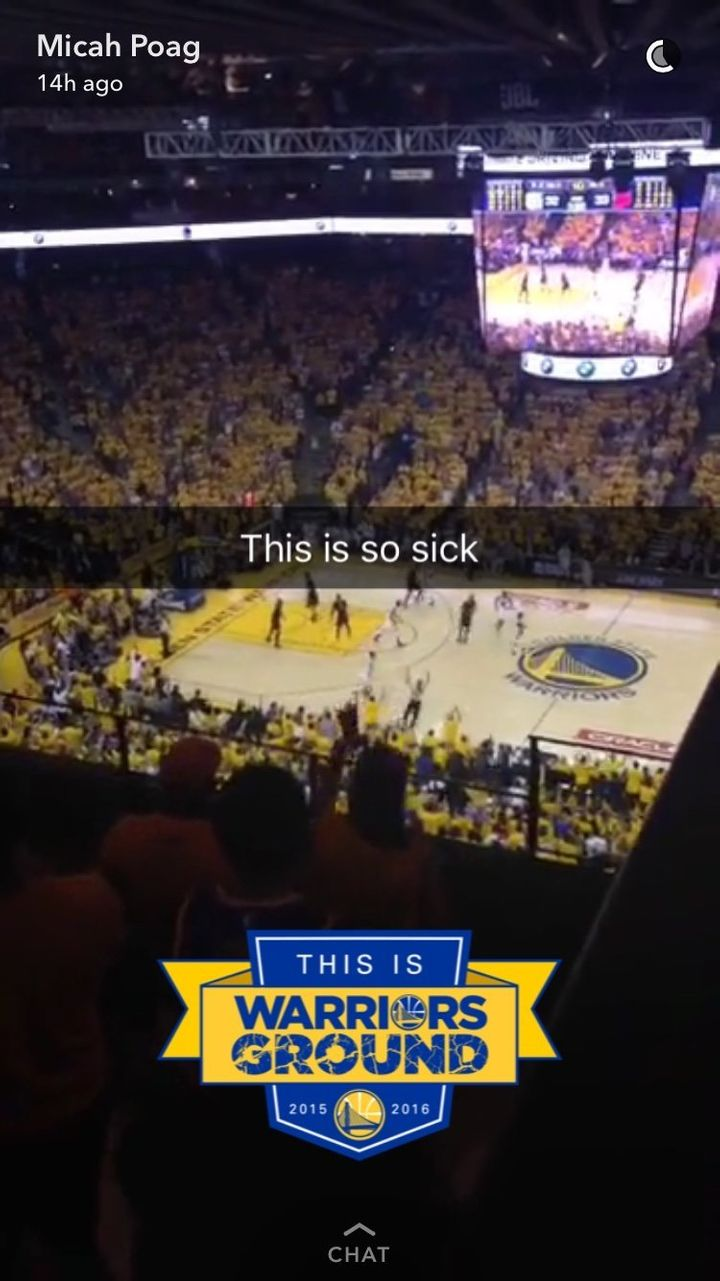 Micah Poag watches Game 7 of NBA Finals from the nosebleeds.