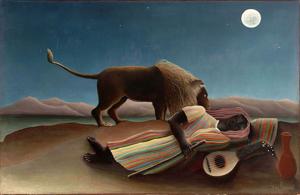 "Henri Rousseau, ""The Sleeping Gypsy,"" 1897"