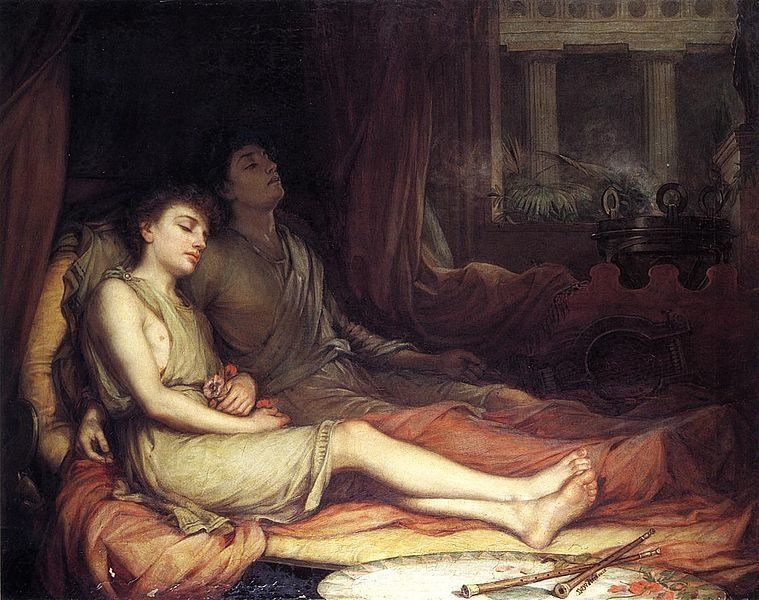 "John William Waterhouse, ""Sleep and His Half-brother Death,"" 1874"