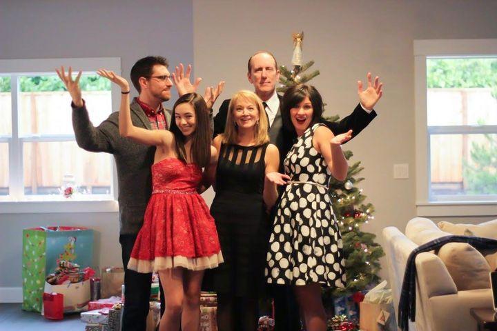 Debra Carnes'familyonChristmas 2015.