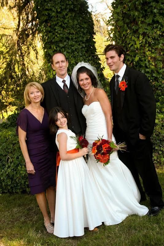 The family at Whitney's wedding.