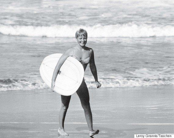 "Linda Benson <a href=""http://encyclopediaofsurfing.com/entries/benson-linda"" target=""_blank"">began surfing in 1955 at the age"